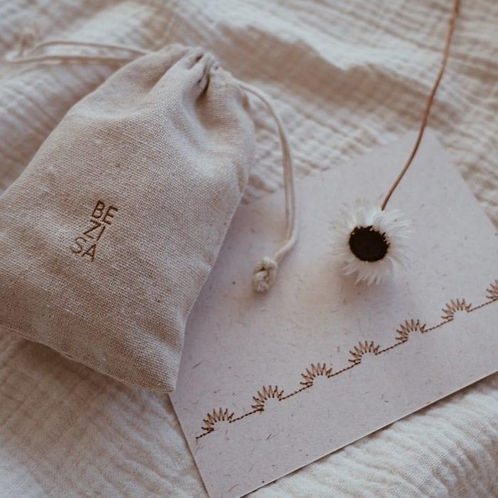card + cotton bag BEZISA